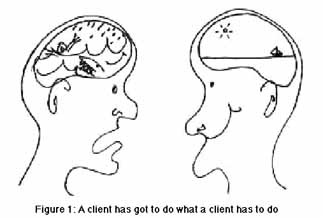 Figure 1: A client has to do what a client has to do
